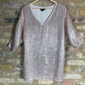 Marciano Guess My Marciano) Rose Gold Sequin Dress